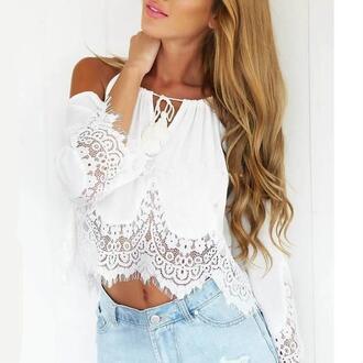 shirt lace lace shirt holidays holiday style beach shirt