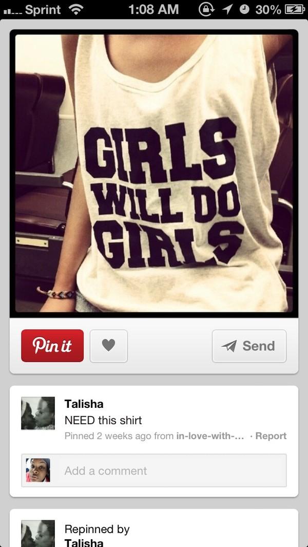 shirt tank top girl lgbt