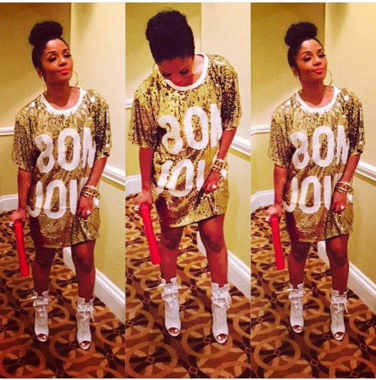 49a62b46075a1 Addictive Stylez Boutique — Gold Sequin Bonjour Shirt Dress