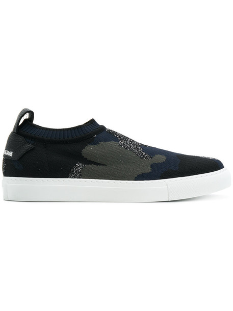 Zadig & Voltaire women sneakers leather cotton blue shoes