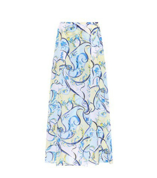 Emilio Pucci Beach Printed cotton and silk skirt