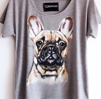 shirt grey cute funny dog