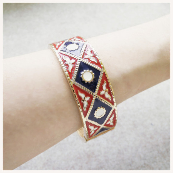 jewels bangle bracelet handcuff tribal retro hippie boho bohemian chevron indie ethnic