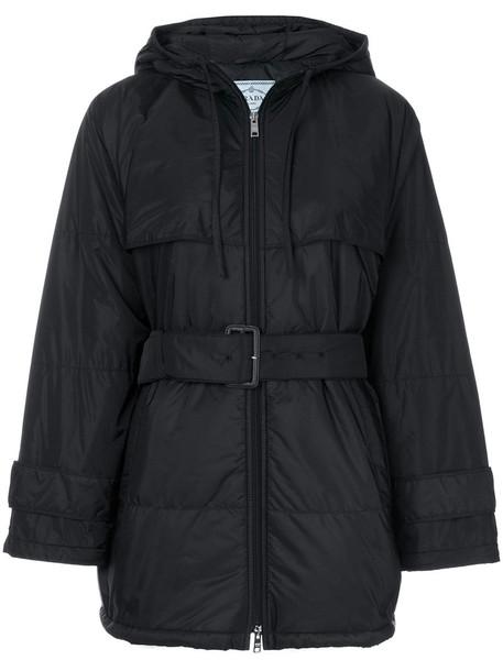 Prada coat oversized women black