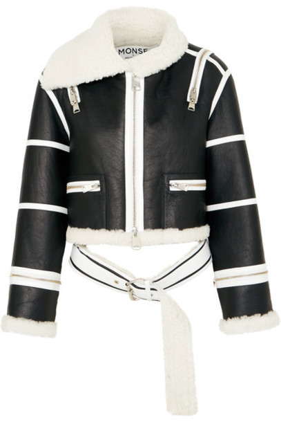 Monse jacket leather jacket cropped leather black