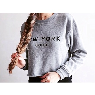 sweater sweat new york grey sweater nail polish