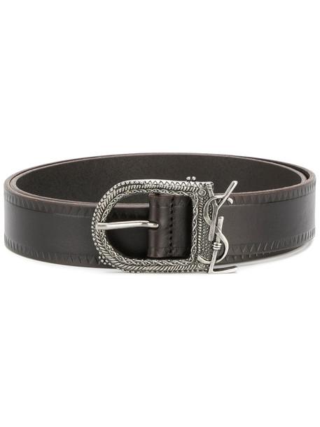 Saint Laurent women belt leather brown