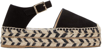 espadrilles suede black shoes
