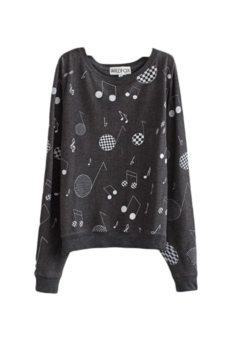 2013 Autumn & Winter New Section Printed Long Sleeve Pullover Sweater,Cheap in Wendybox.com