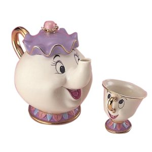 Kun and disney tea set pot mrs. (japan import): toys & games