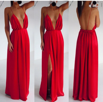 maxi dress red dress hot sexy dress prom dress long dress