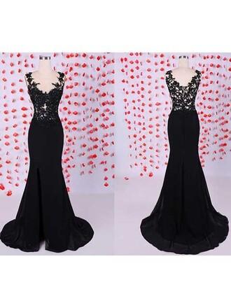dress black formal beautiful elegant fashion lace gown dressofgirl