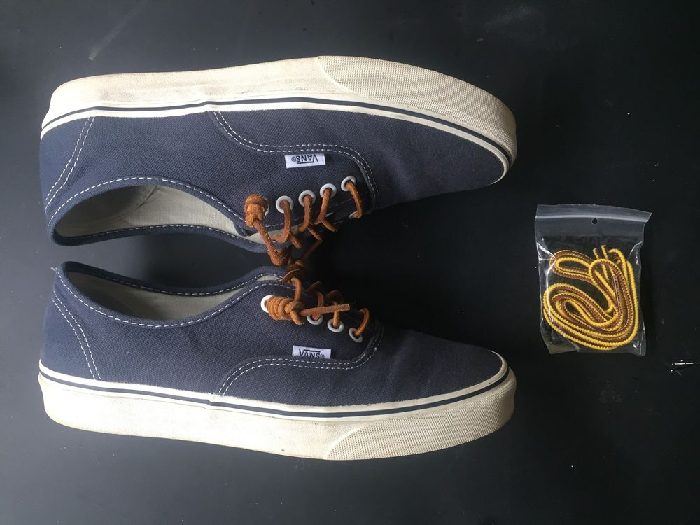 991d978743 Vans® for J.Crew washed canvas authentic sneakers sizeUS MEN 9.5 color dark  navy