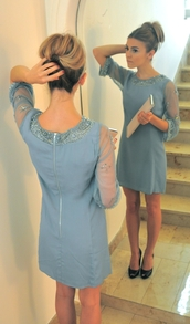 pastel blue dress,dress