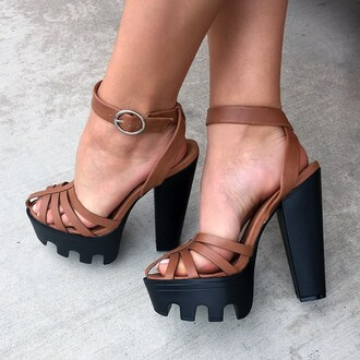 shoes platform shoes platform heels tan spring summer outfit gojane