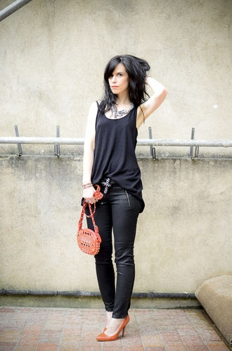 punk punky b skinny pants black jeans agnes b