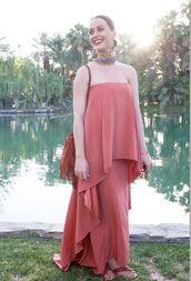 dress,coachella,katy perry,necklace,maxi dress,strapless,shoes