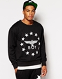 Boy london sweatshirt with stars eagle logo at asos.com