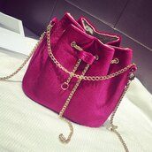 bag,red,fashion,style,trendy,cool,purse,velvet,rose wholesale