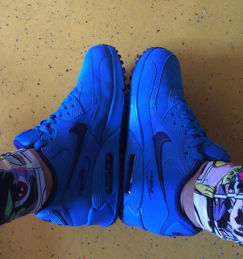 nike air max 90 all blue