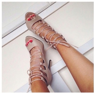 shoes nude sandals
