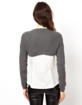 ASOS | ASOS Super Crop Chunky Rib Jumper at ASOS