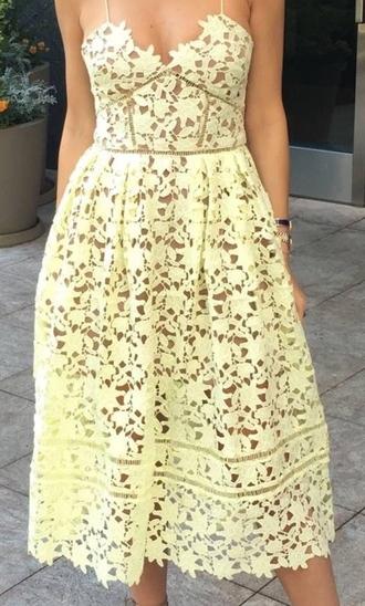 dress yellow dress tea length cocktail dresses sundress