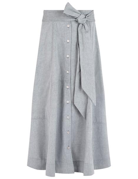 Lisa Marie Fernandez skirt beach skirt patchwork beach grey black