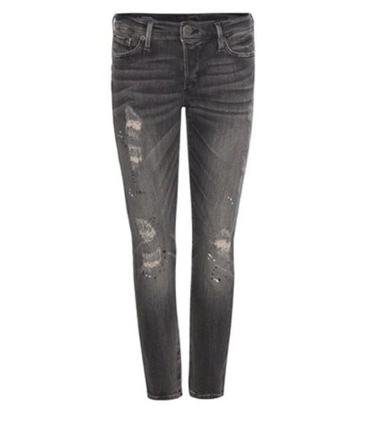 True Religion Liv Embellished Jeans in grey