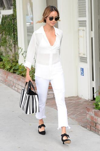pants blouse shirt jamie chung blogger spring outfits black and white streetstyle bag