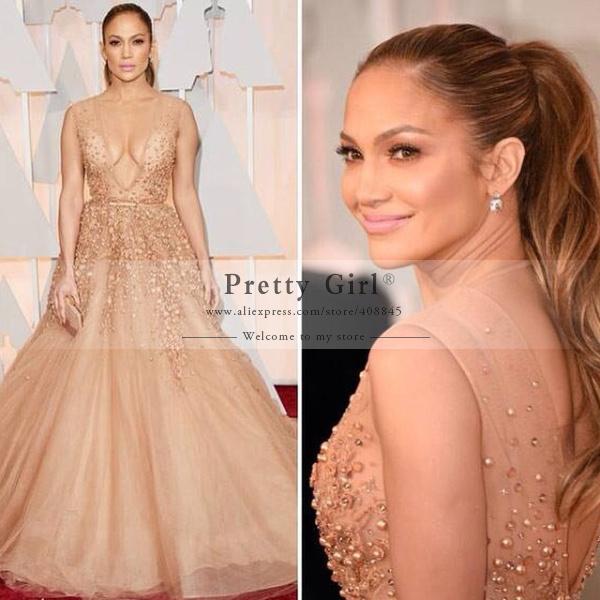 Aliexpress.com : Buy vestido 87th Oscar Jennifer Lopez Celebrity ...