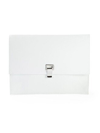 clutch white bag
