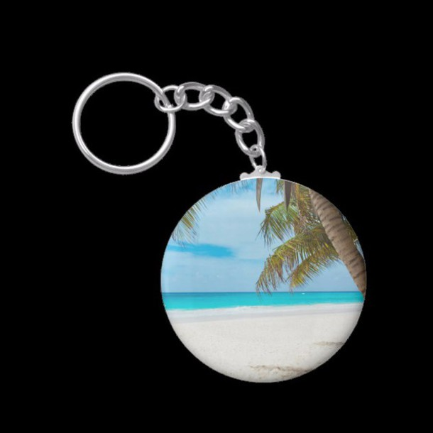 jewels zazzle style key love nature outdoor holidays palm ocean keychain