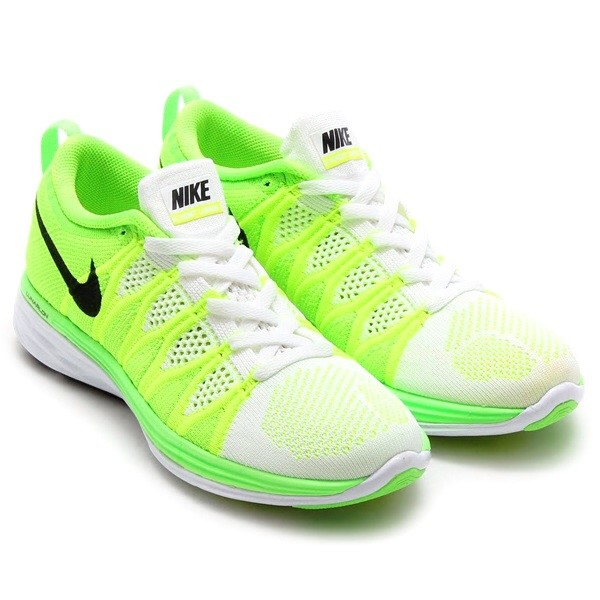 mens nike flyknit lunar 2 white green