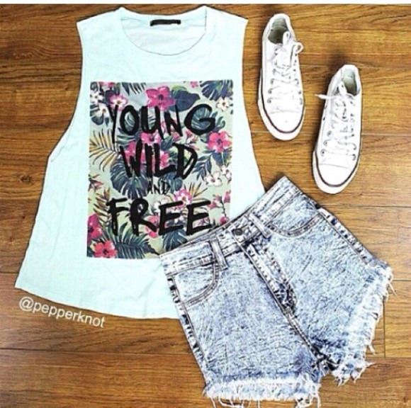 young free wild tanktop. muscle tank