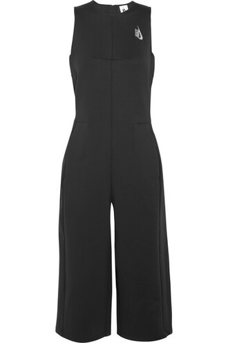 jumpsuit cropped black neoprene