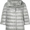 Herno - padded jacket - women - cotton/feather down/polyamide/acetate - 42, grey, cotton/feather down/polyamide/acetate