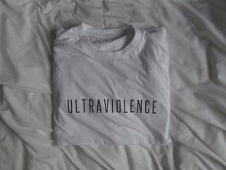 ultraviolence t-shirt withe lana del rey logo