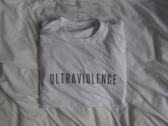 lana del rey ultraviolence t-shirt withe logo