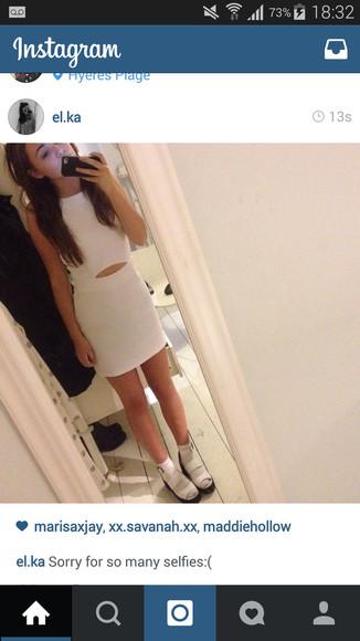 adorable girly grunge skater pure fashiin aw peek-a-boo dress