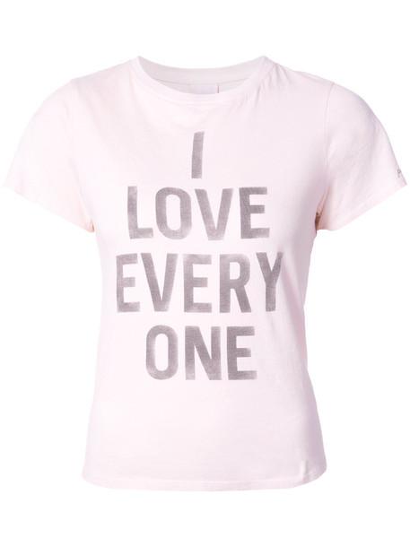 Cinq a Sept t-shirt shirt t-shirt women love cotton purple pink top