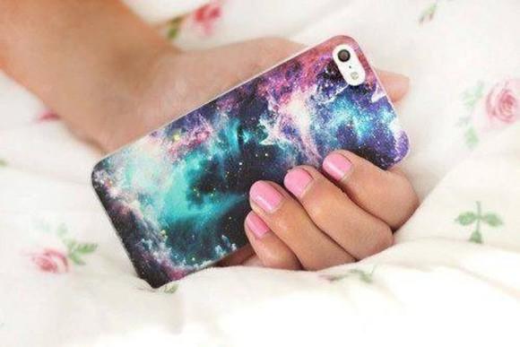 blogger galaxy print phone case