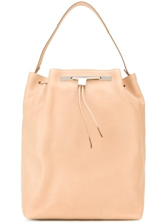 drawstring backpack nude bag