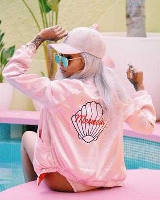 jacket pastel mermaid shell pink mermaid jacket