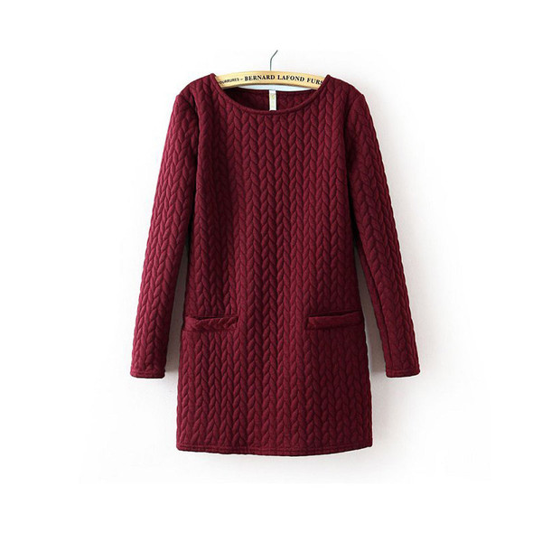 red dress burgundy knitwear cable knit knitted dress
