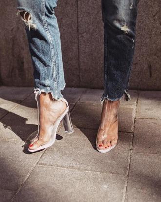 shoes tumblr boots peep toe boots transparent transparent boots clear boots clear high heels boots