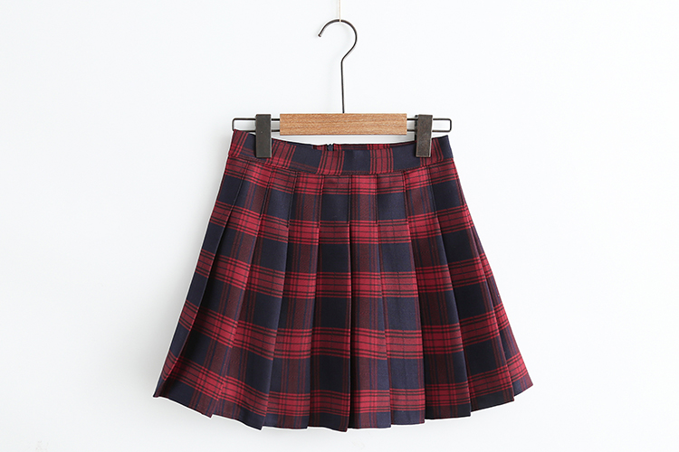 90s Style Check Pleat Skirt (3 Colours)