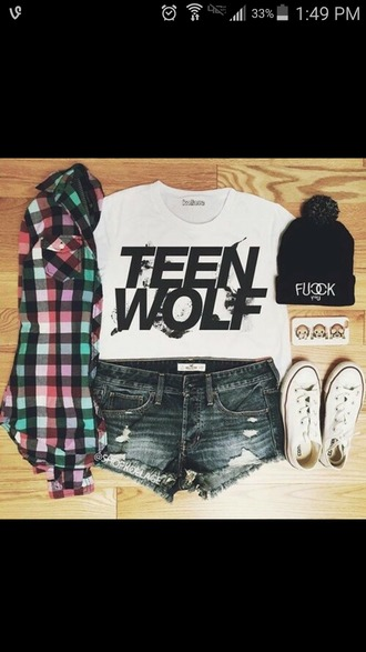 shirt white white top white t-shirt teen wolf teenwolf tshirt t-shirt cute teen style teengirl black white and black tshirt mtv summer