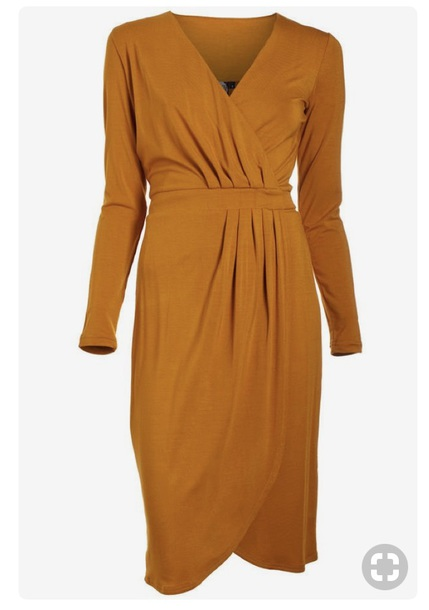dress camel amber wrap dress