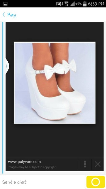 shoes white heels with bow